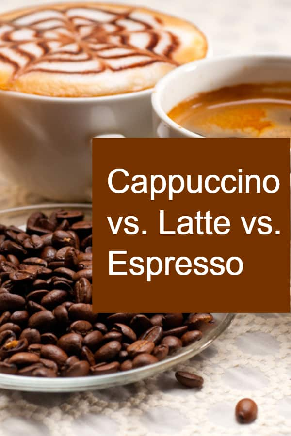 Comparing Cappuccino and Latte and Espresso - What are the differenced besides using steamed milk in latte and cappuccino?
