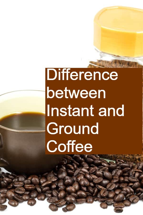 Difference between Instant and Ground Coffee Pin