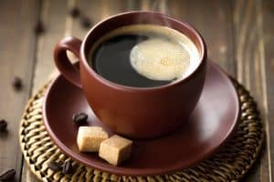 Enjoy a cup of black coffee