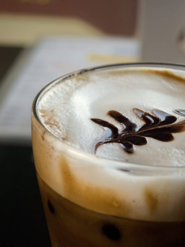 Enjoy a delicious cup of iced latte!