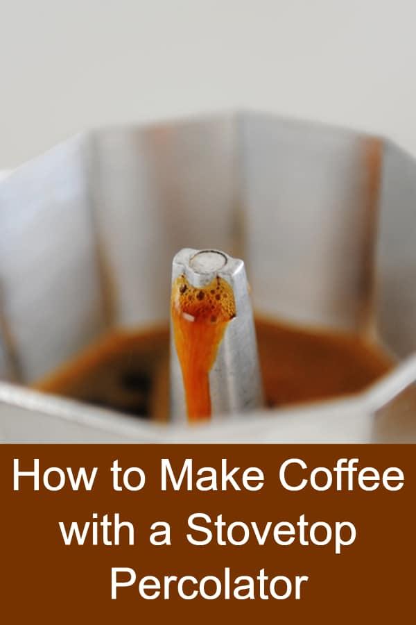 Using a stovetop percolator to make coffee