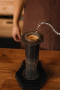 AeroPress Brewing by a Barista