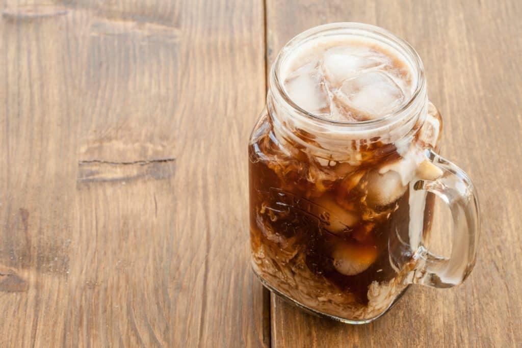 Brew coffee or espresso and serve over ice