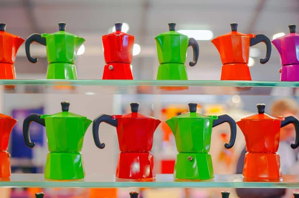 Colorful Moka Pots - Make coffee on the stovetop