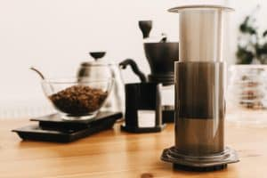 Delicious Cup of coffee made with an Aeropress - Faster than a Moka Pot