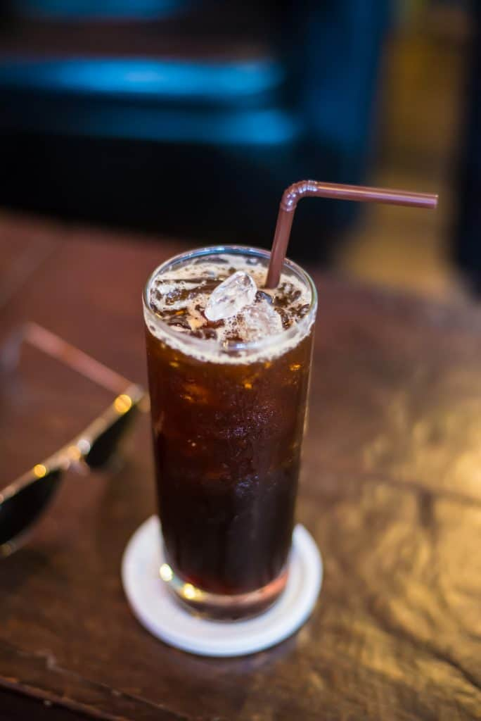 Drinking iced coffee black - Substitute with Espresso or Americano style
