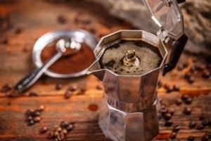Espresso made in a Moka Pot - Ready to pour
