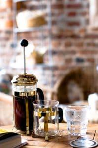 Using a coffee press to make coffee