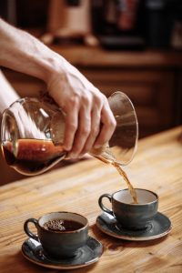 Pouring Chemex Coffee
