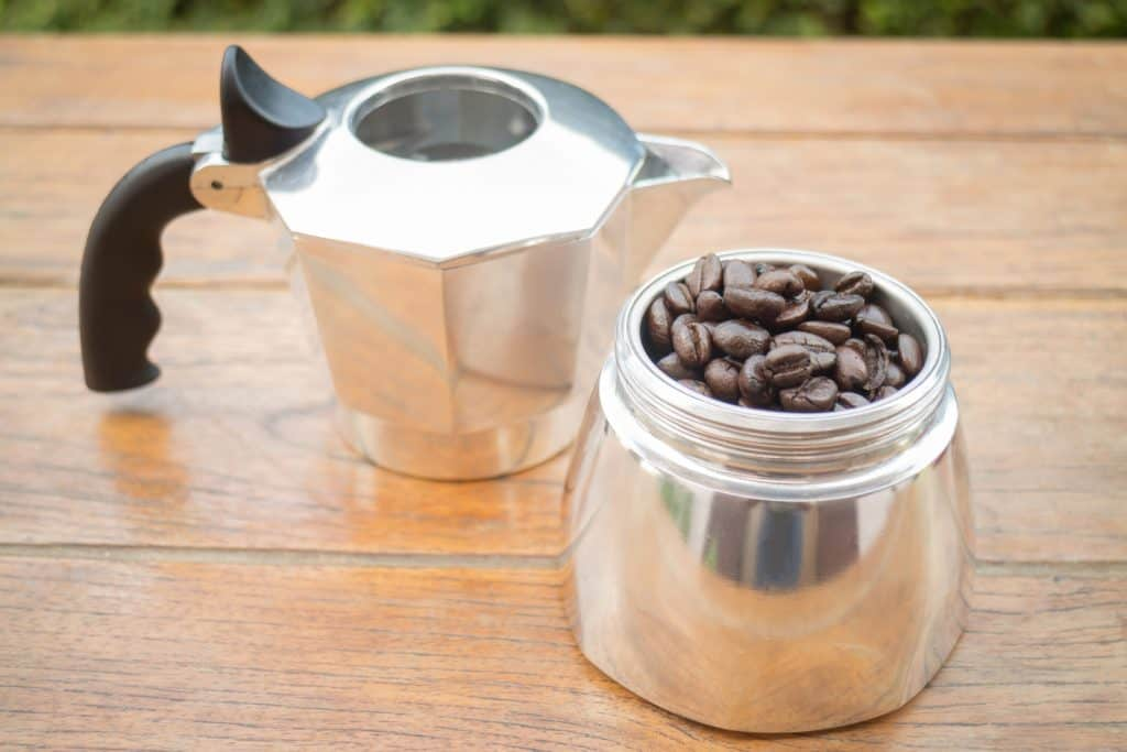 Use a Aluminum or Stainless Steel Moka Pot to make coffee