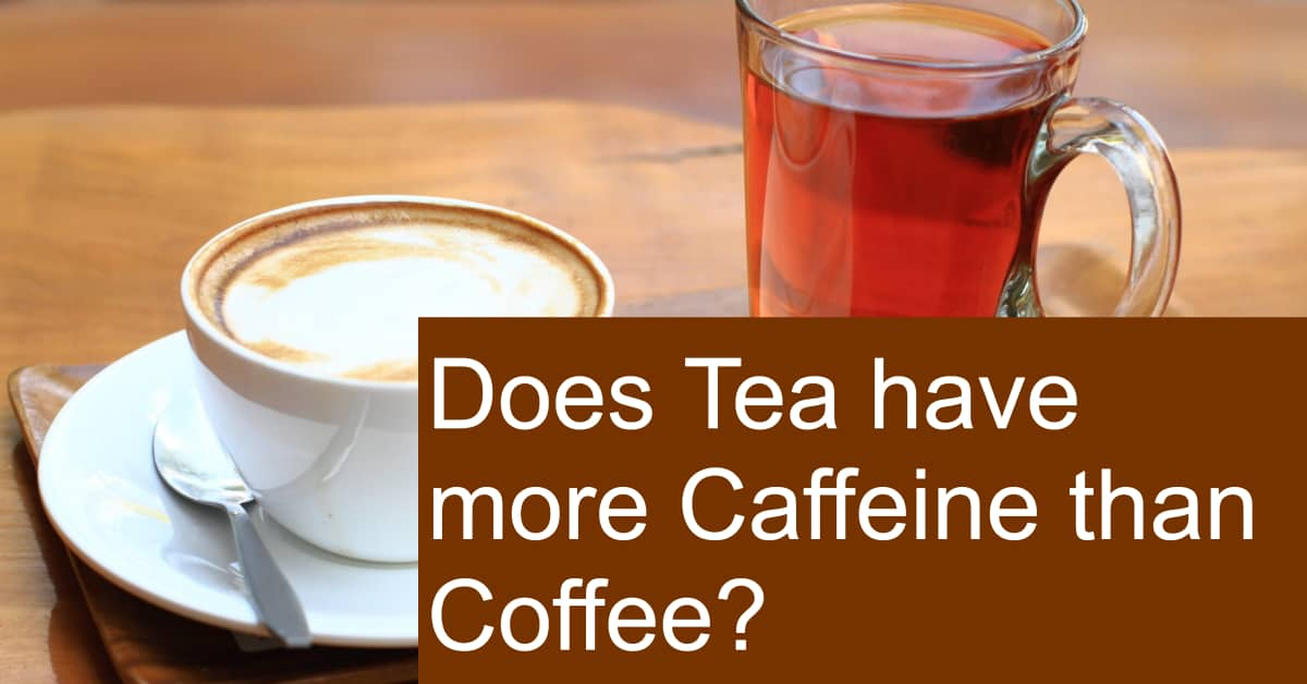 Does Tea have more Caffeine than Coffee? Which provides more Energy?