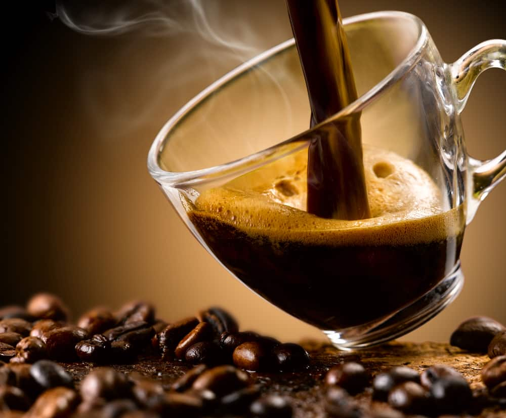 Drinking Espresso with Syrup