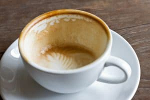 Enjoying a Cafe Breve