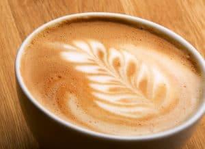 Latte Art on a Caffe Breve