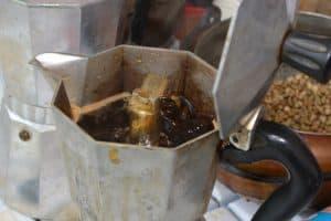 Moka Pot for brewing coffee