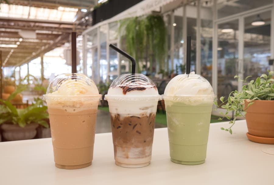 Different types of Frappuccino