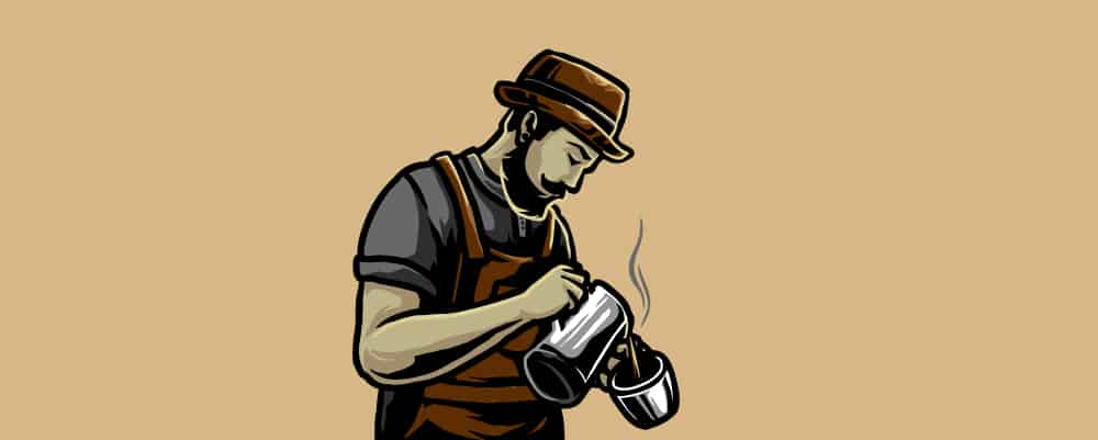 Man pouring a cup of coffee